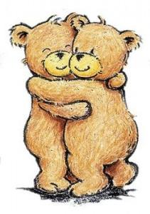 2 bears hug