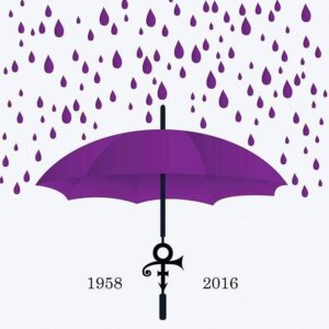 Prince purple rain umbrella